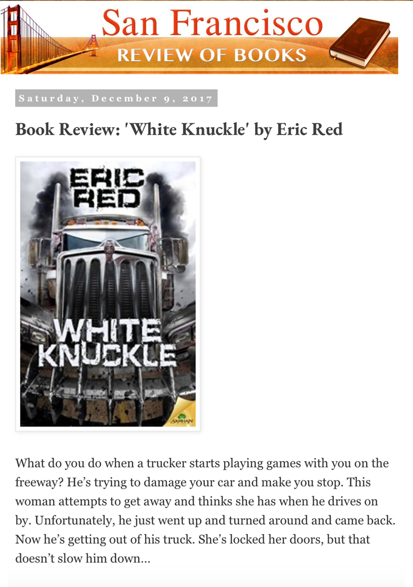 WHITE KNUCKLE.San Francisco Review of Books