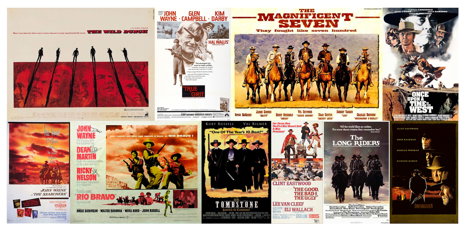 Western film poster collage banner.small